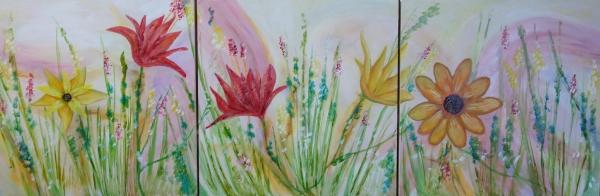 Tryptique Floral